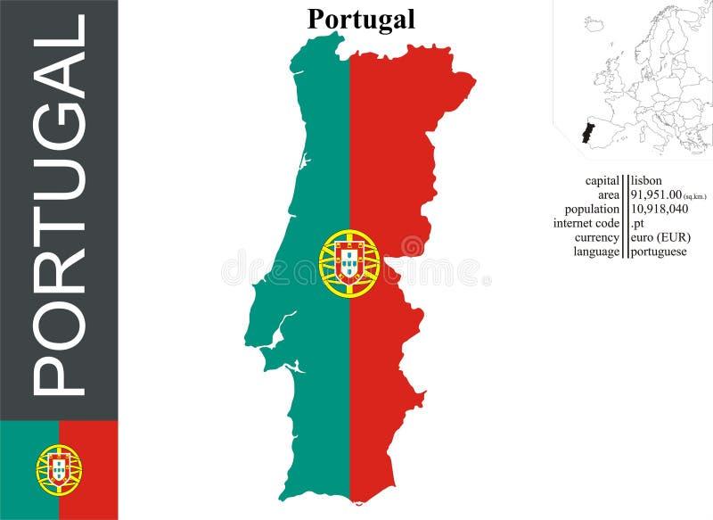 portugal vektor illustrationer
