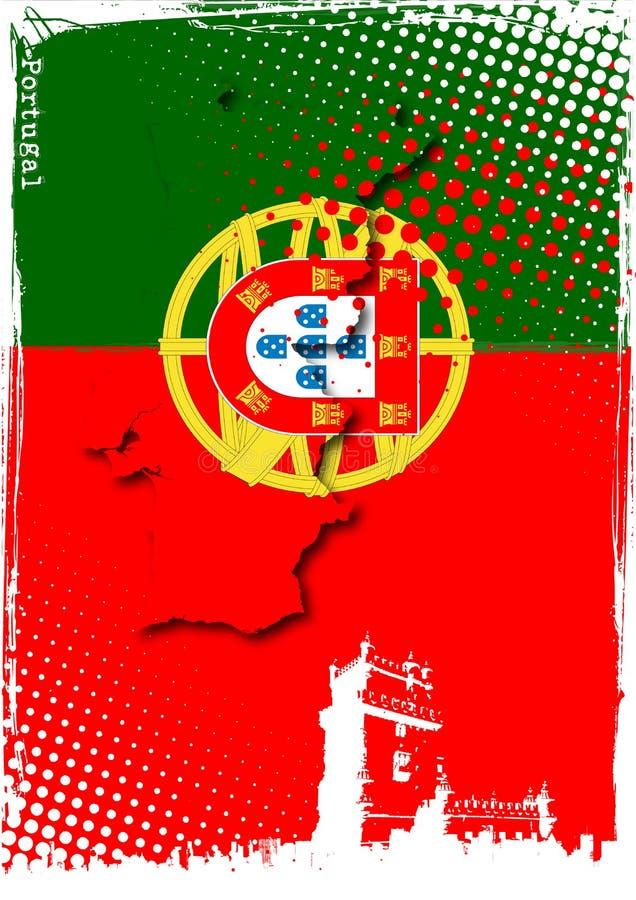 portugal affisch vektor illustrationer