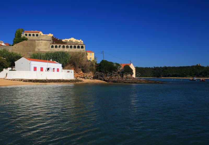 Portugal, Alentejo, Vila Nova de Milfontes, Heilige Clements Forte stock foto