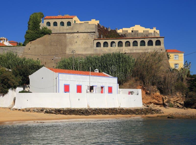 Portugal, Alentejo, Vila Nova de Milfontes, santo Clements Forte fotos de archivo
