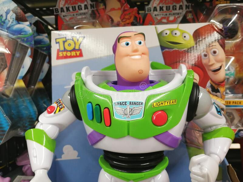 Buzz Lightyear toy royalty free stock photography