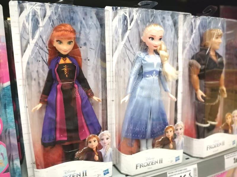 Disney Frozen Elsa and Anna Dolls royalty free stock image