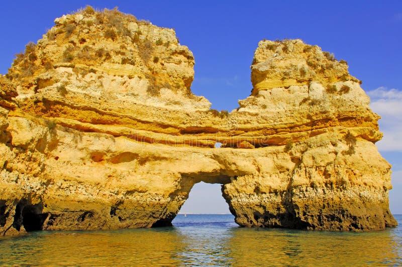 Portugal, Algarve, Lagos: Prachtige kustlijn royalty-vrije stock foto's
