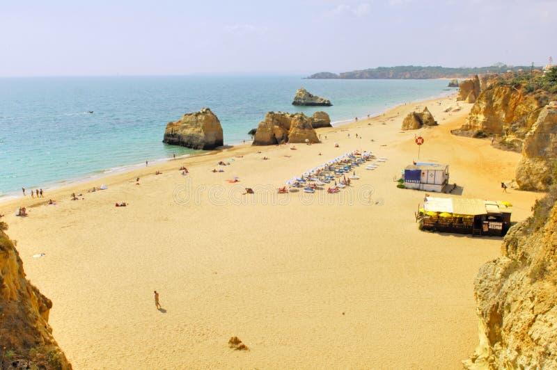 Portugal, Algarve, Portimao: Strand stock foto