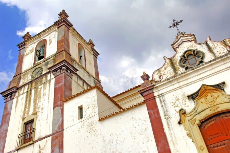 Portugal, Algarve, Silves: Kerk stock foto's