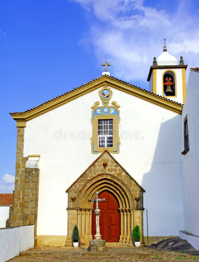 Download Portugal, Area Of Alentejo, Marvao: Old Church Stock Photo - Image of travel, traditional: 4157384