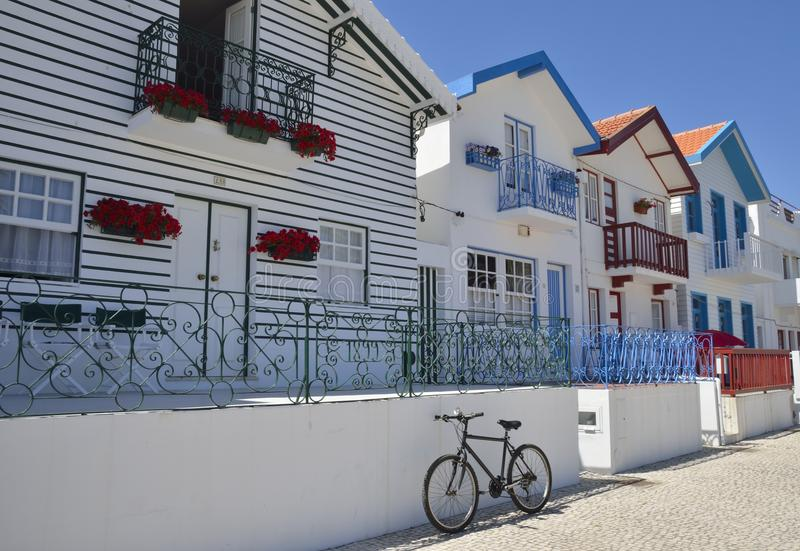Portugal beach houses royalty free stock photos