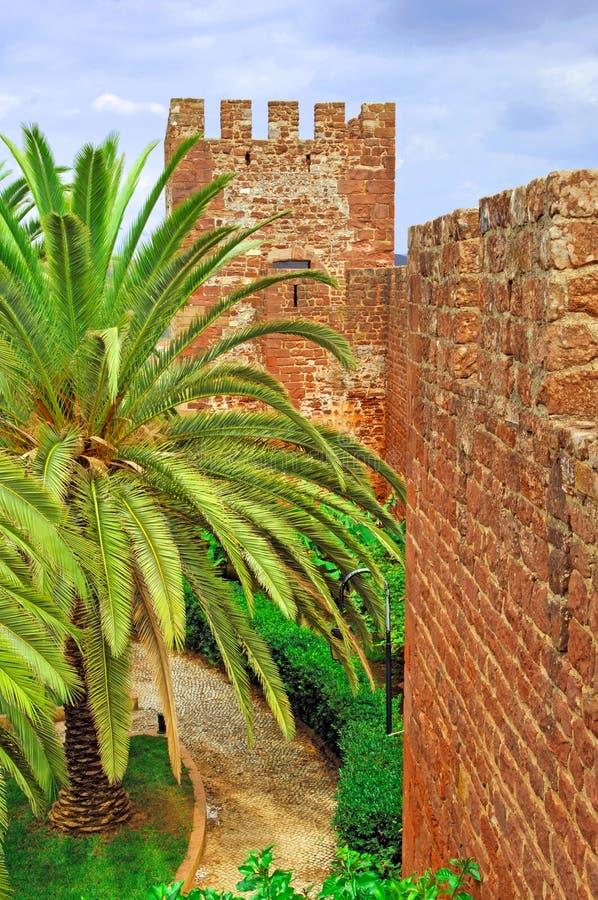 Portugal, Bereich von Algarve, Silves: Schloss stockbilder