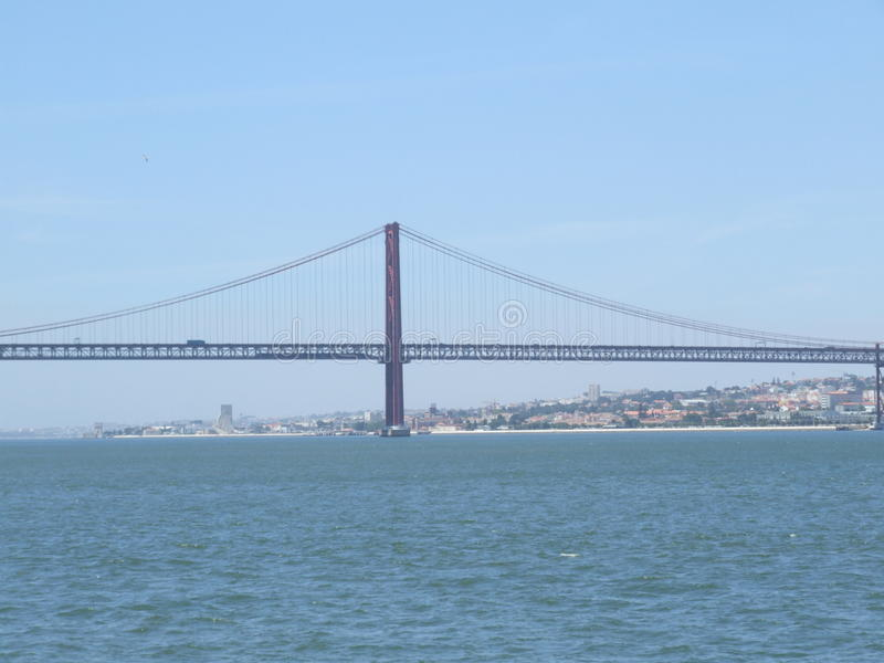 Portugal Bridge on 25 April - Portugal royalty free stock photo