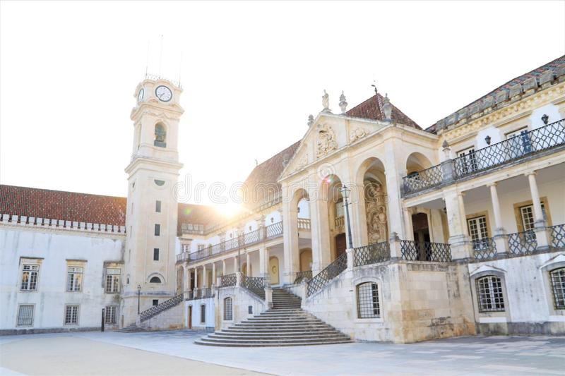 Coimbra. Portugal building coimbra royalty free stock images