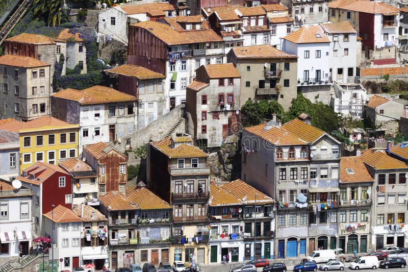 Portugal: Buildings Of Porto Editorial Photo