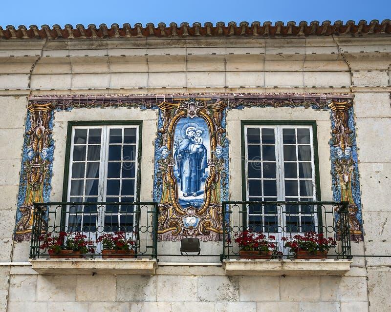 Portugal, Cascais telha fotografia de stock royalty free