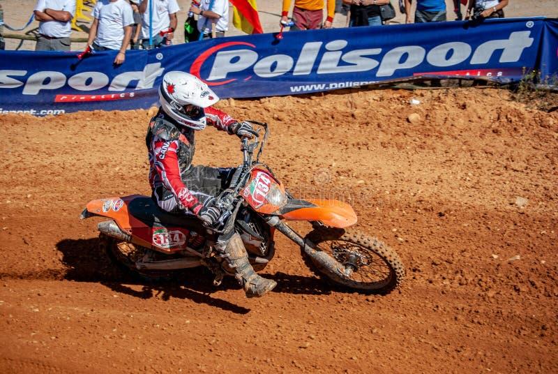 Portugal - 17 de setembro de 2009 - RAÇA de ENDURO imagem de stock