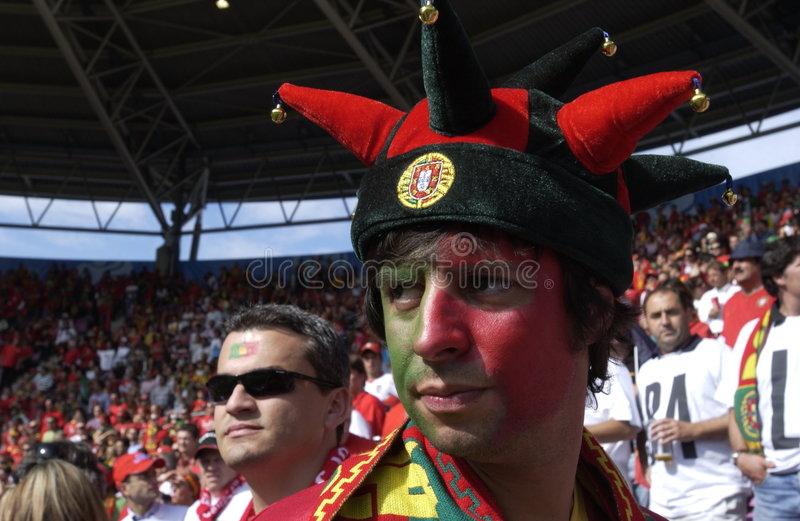 Portugal Fan at EURO 2008 stock photos