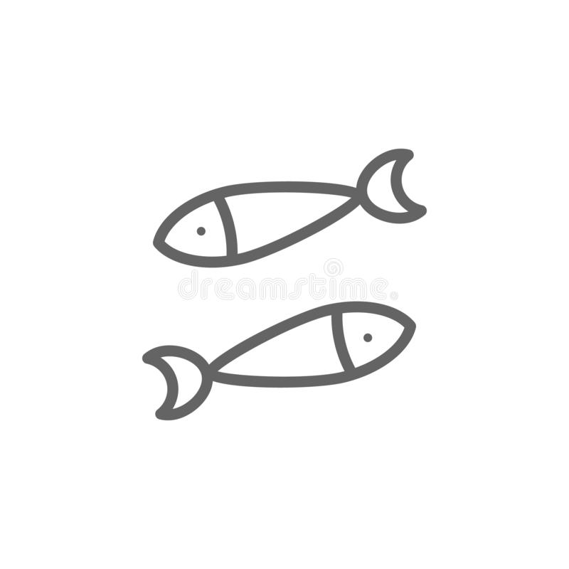 Portugal fish, sardines icon. Element of Portugal icon. Thin line icon for website design and development, app royalty free illustration