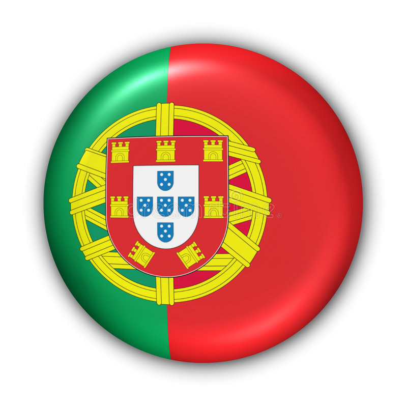 Portugal Flag. World Flag Button Series - Europe - Portugal(With Clipping Path