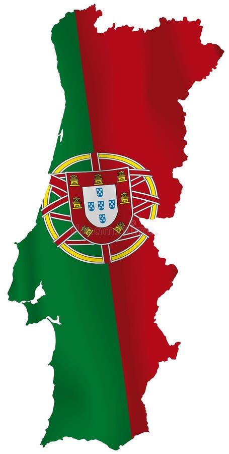 Portugal flagga royaltyfri illustrationer