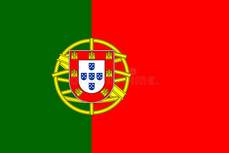 Portugal-Flaggenvektor vektor abbildung