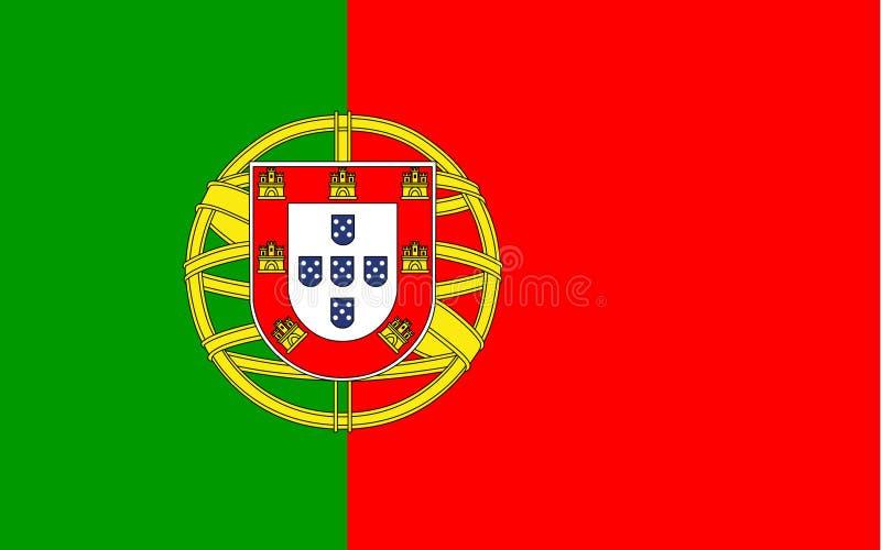 Portugal-Flaggenvektor Illustration von Portugal-Flagge lizenzfreie abbildung