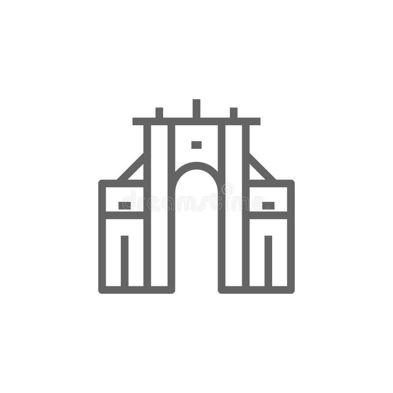 Portugal, icono del arco de Rua Augusta Elemento del icono de Portugal L?nea fina icono para el dise?o y el desarrollo, desarroll libre illustration