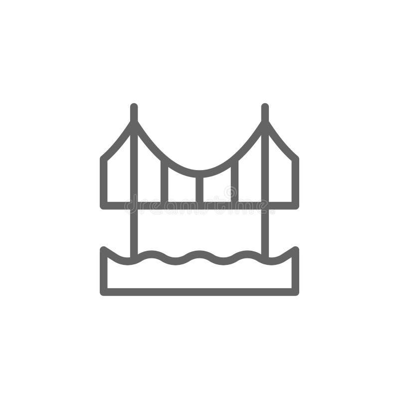 Portugal, icono del puente de Abril Elemento del icono de Portugal L?nea fina icono para el dise?o y el desarrollo, app del sitio libre illustration