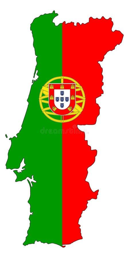 portugal Karte der Portugal-Vektorillustration vektor abbildung