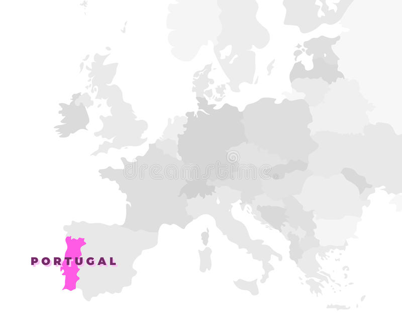 Portugal lägeöversikt vektor illustrationer
