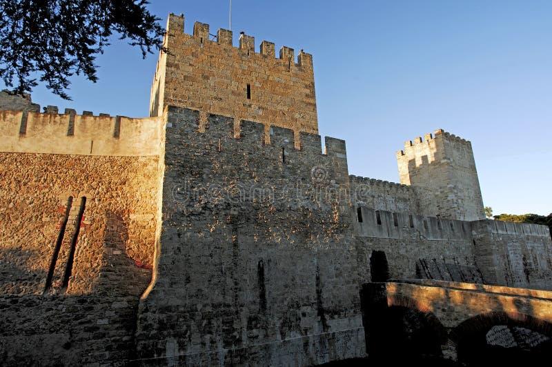 Portugal, Lisboa: Castillo de Lisboa imagen de archivo libre de regalías