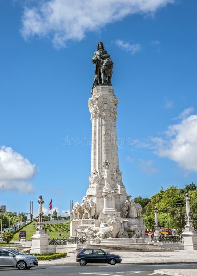 Portugal, Lisboa Monumento ao marquês de Pombal imagens de stock royalty free