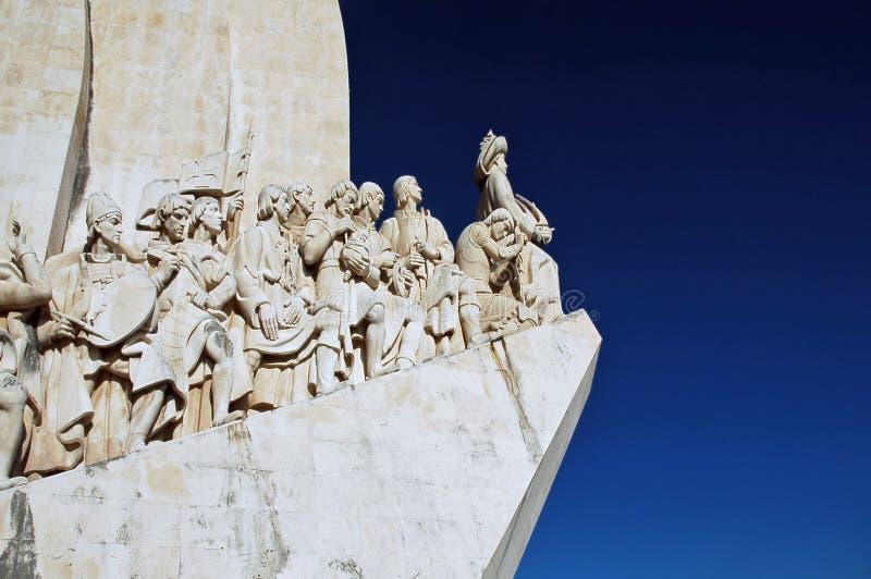 Portugal, Lisboa: Monumento a los descubrimientos fotografía de archivo