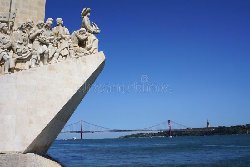 Portugal, Lisboa, monumento a los descubrimientos de Lisboa, DOS Descobrimentos de Padrao fotos de archivo libres de regalías