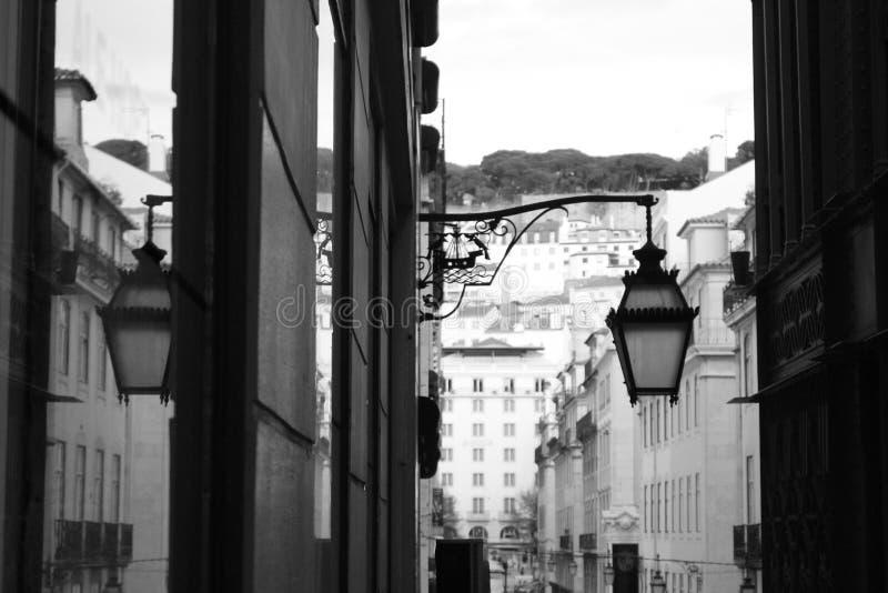 Portugal Lisbon - A streetlight by Santa Justa. Beauty of Lisbon - A streetlight by Santa Justa royalty free stock photography