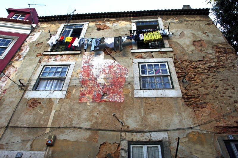 portugal lissabon altes haus in alfama stockfoto bild. Black Bedroom Furniture Sets. Home Design Ideas