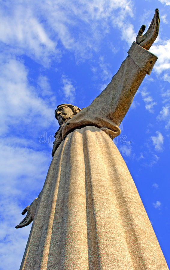 Portugal, Lissabon: De koning van Christus stock foto's