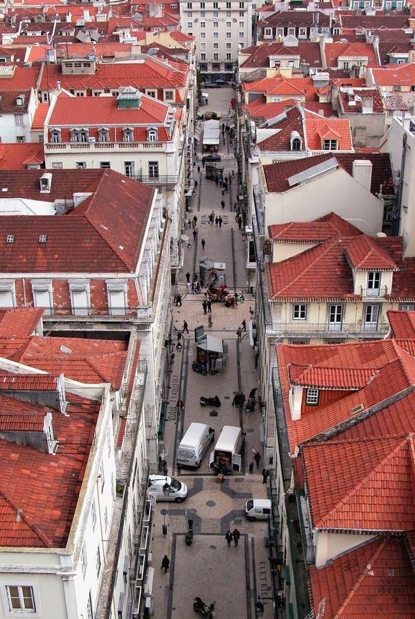 Portugal lizbońskiej dachy fotografia stock