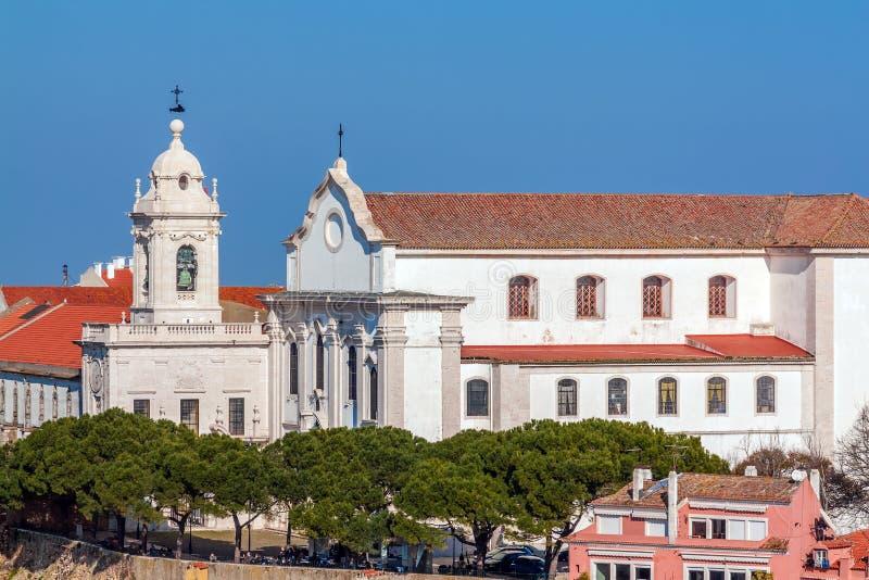 Portugal lizbo?skiego Graca kościół, klasztor i Sophia De Mello Breyner Andresen punkt widzenia fotografia royalty free