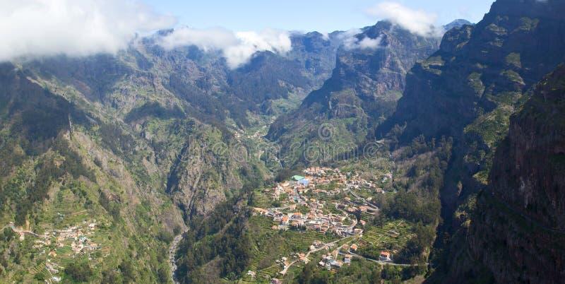 Portugal, Madera, Vallei van de Nonnen royalty-vrije stock foto's
