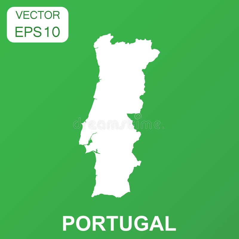 Portugal Map Icon Business Concept Portugal Pictogram Vector - Portugal map icon