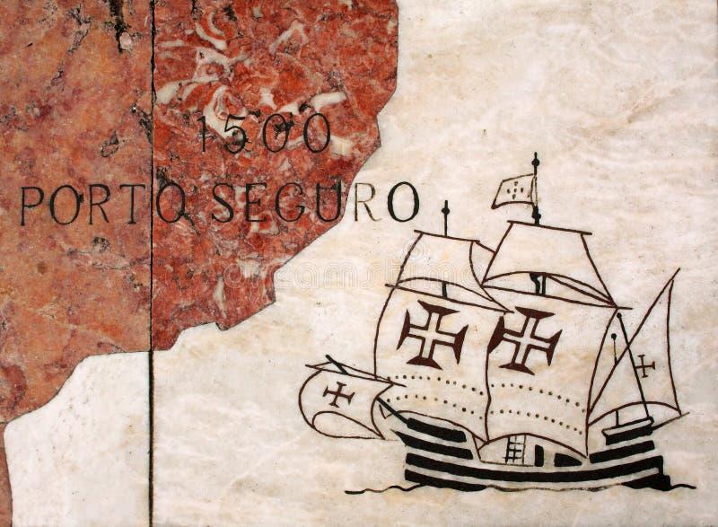 Portugal, Mapa De Viajes Portugueses Del Descubrimiento En Mármol ...