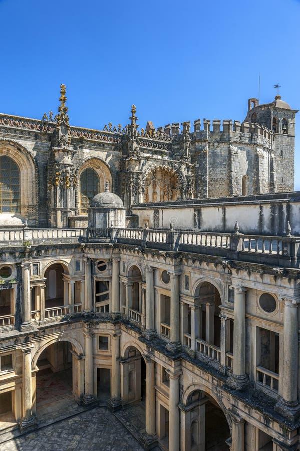portugal Monasterio de la orden de Cristo imágenes de archivo libres de regalías