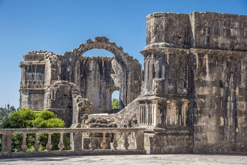 portugal Monastero dell'ordine di Cristo immagini stock libere da diritti