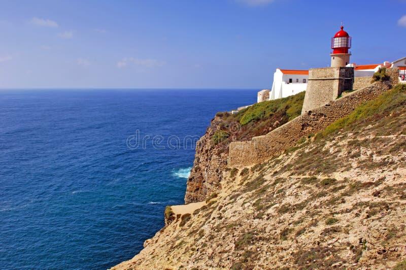 Portugal, o Algarve, Sagres: Cabo de S Vincente fotos de stock royalty free