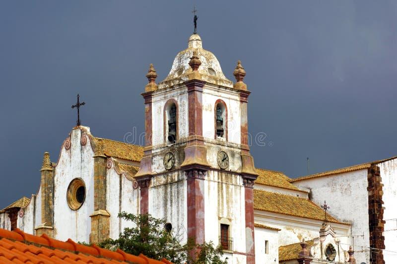 Portugal, o Algarve, Silves: Igreja fotos de stock