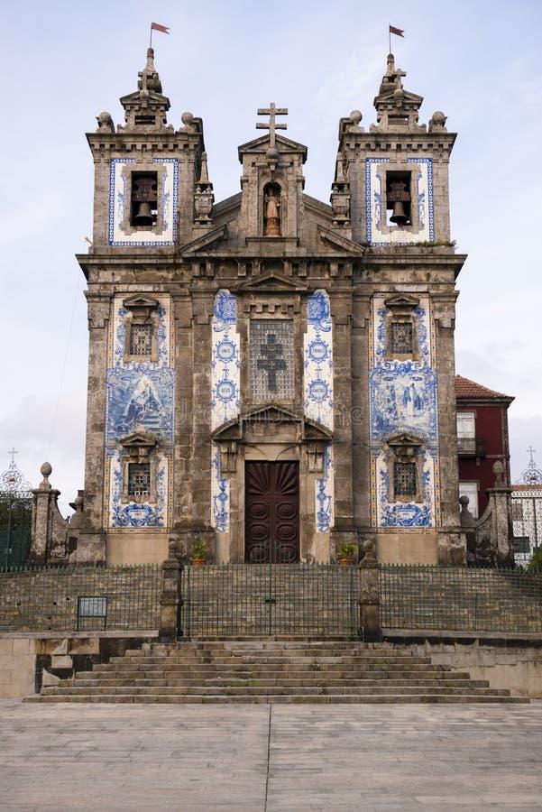 Portugal, o Porto a igreja antiga de Carmo foto de stock
