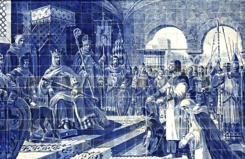 Portugal, Porto: Azulejo bij Sao Bento royalty-vrije stock foto