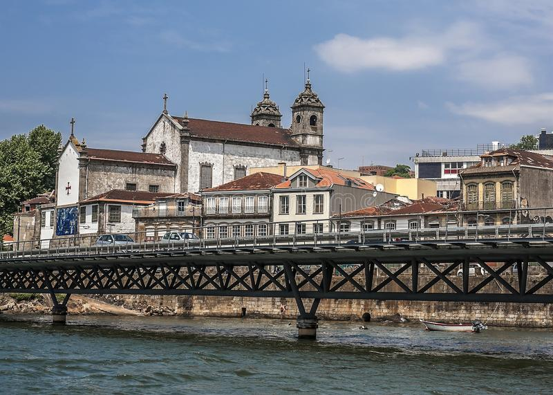 Portugal, Porto Kerk van het Broederschap van de Heilige Zielen en Organismen stock foto's