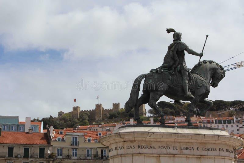 Portugal in rossio castelo de s. jorge stock images