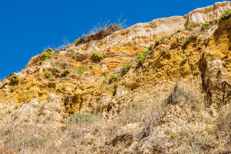 Portugal. Sand mountain on the Atlantic coast. stock photography