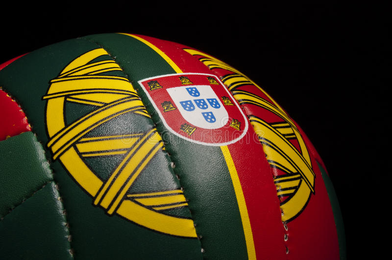Portugal soccer ball royalty free stock image
