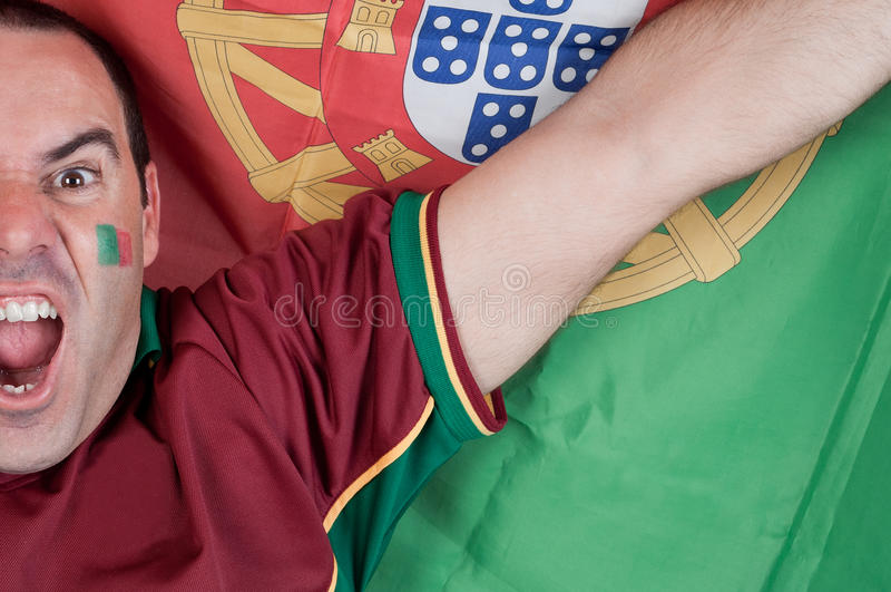 Portugal soccer fan stock photos